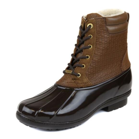 Michael Kors Shoes - Michael Kors Caramel Easton Lace Up Duck Boot
